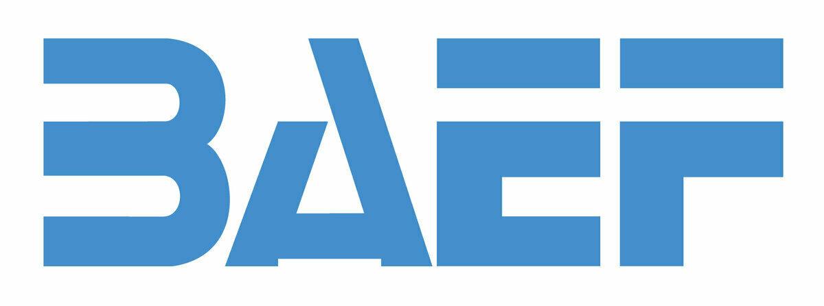 Logo: BAEF.